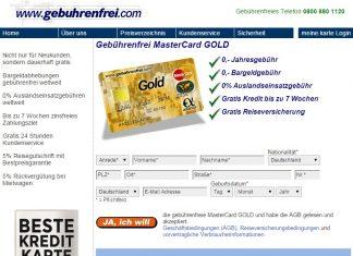 Advanzia Gebührenfrei Mastercard Gold Kreditkarte