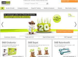 DAB Bank Website