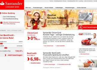 Santander Consumer Bank Website
