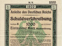 Staatsanleihe des Deutschen Reiches von 1922