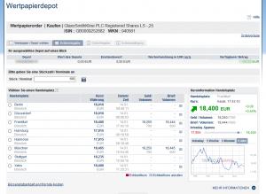 Targobank Oberfläche Aktien kaufen