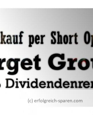 Aktienkauf per Short Option: Target Group mit 4,3 % Dividendenrendite